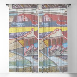 The Moasic Wall Sheer Curtain