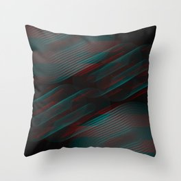 Echoes VII - Abstract Glitched Circles Throw Pillow