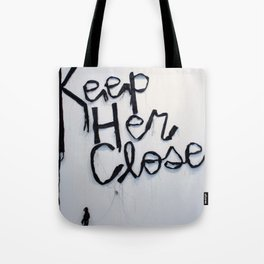 Keep Her Close, Silk Graffiti by Aubrie Costello Tote Bag