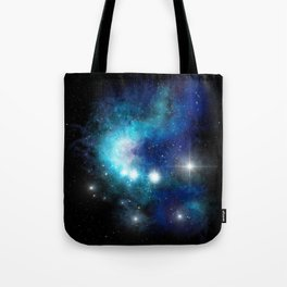 Blue Nebula Tote Bag