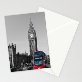 Big Ben and the bus - colour popped Stationery Cards