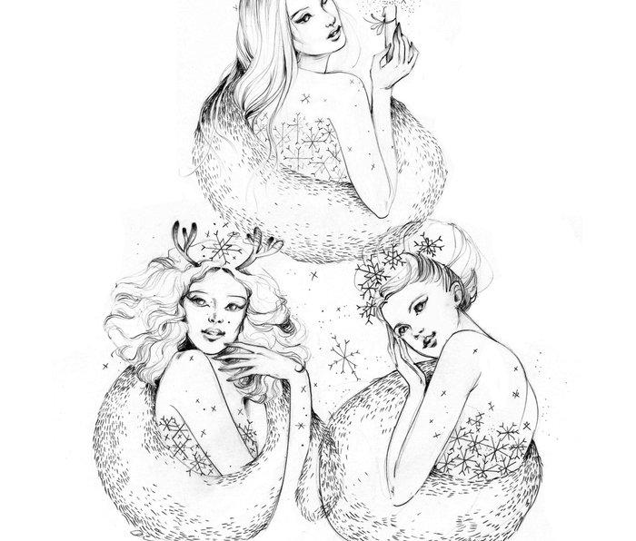 Christmas Fairies Metal Travel Mug
