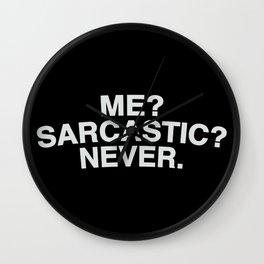 sarcasm Wall Clock