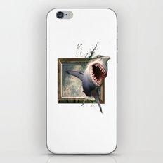 Shark Smash Window iPhone & iPod Skin
