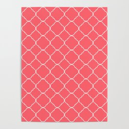 Coral Red Moroccan Poster