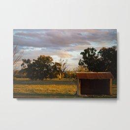 Farmyard Morning Metal Print