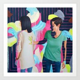 Katie and Chloe II Art Print