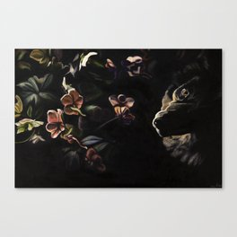 Nea and Hellebores Canvas Print