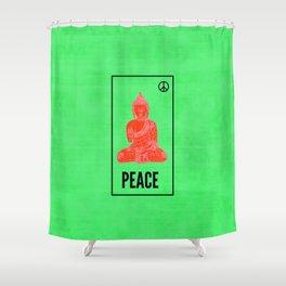 Neon Siddhartha Shower Curtain