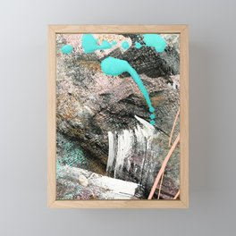 (Un)Tamed [2]: a vibrant, colorful abstract piece in pink, teal, black and white Framed Mini Art Print