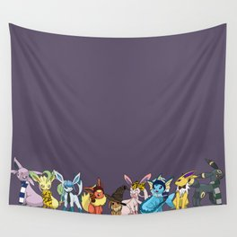 Eeveelutions Go To Hogwarts Wall Tapestry