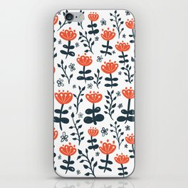 Red Blooms iPhone Skin