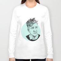 david lynch Long Sleeve T-shirts featuring David Lynch by Ruth Hannah