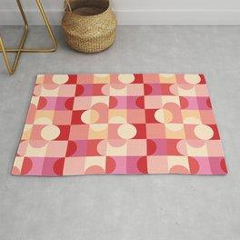Geometric Pink Shapes Art Print Rug