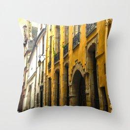 Paris Lane Throw Pillow