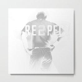 Respect Derek Jeter Metal Print