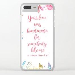 Floral lyrics Clear iPhone Case
