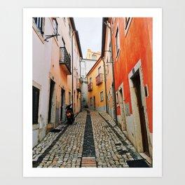 Alley of Lisbon Art Print