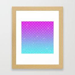 Gradient Mermaid Scales Framed Art Print