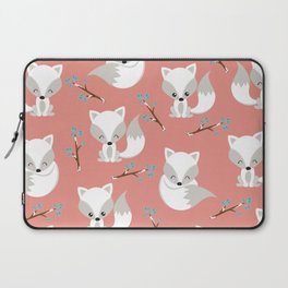 ARCTIC FOXES ON CORAL Laptop Sleeve