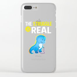 T Rex Dinosaur Jump Rope The Struggle is Real Clear iPhone Case