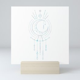 Mandala Crescent Moon Mini Art Print