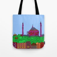 istanbul Tote Bags featuring Istanbul by andy_panda_