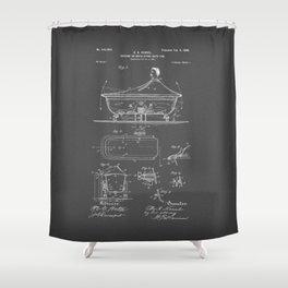 Rocking Oscillating Bathtub Patent Engineering Drawing Shower Curtain