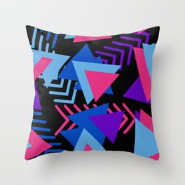 80s Memphis Pattern Throw Pillow