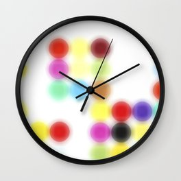 Ghost printing Dotty Wall Clock