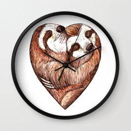 sloth love Wall Clock