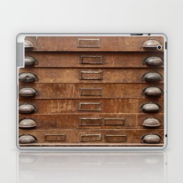 Wooden cabinet with drawers Laptop & iPad Skin