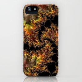 Autumn Leaves yellow brown orange Fractal iPhone Case