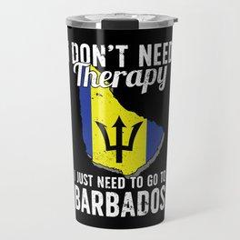 Barbados flag I Barbados Souvenirs Travel Mug