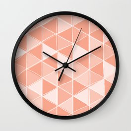 Coral Triangles Wall Clock