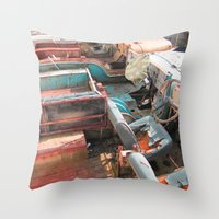 jeep Throw Pillows featuring Jeep by Mario Sa