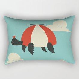 Turtle Hat Flies in the Sky Rectangular Pillow