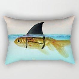 goldfish with a shark fin Rectangular Pillow
