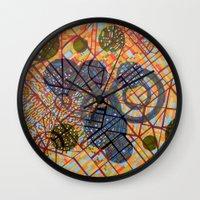 milan Wall Clocks featuring bombing Milan by Federico Cortese