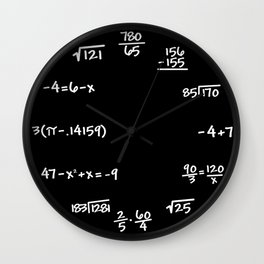 Math Mathematics Formulas Clock :: Solve the Time Wall Clock
