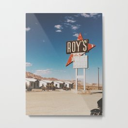 Roy's Retro Motel Metal Print