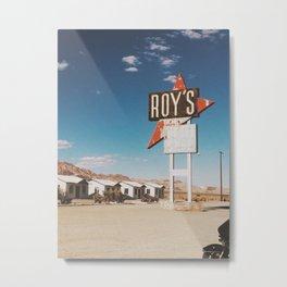 Roy's Motel Metal Print