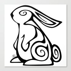 Rabbit Swirls Canvas Print