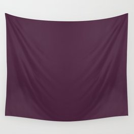PICKLED BEET Dark Wine solid color Wall Tapestry