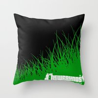 tote bag Throw Pillows featuring Test Graphic- Newfounds Tote bag by ChristopherLynch