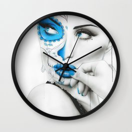 'Vision Of Caeruleum' Wall Clock