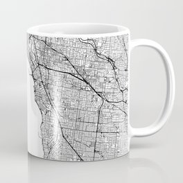 Melbourne White Map Coffee Mug