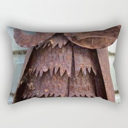 Rusty metal owl Rectangular Pillow