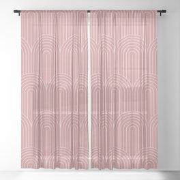 Art Deco Arch Pattern X Sheer Curtain