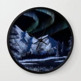 Bob Ross Alaskan Northern Lights Wall Clock